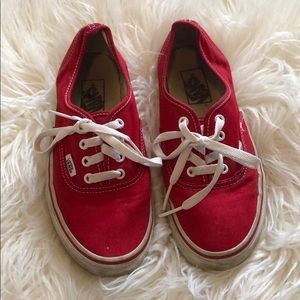 Red Classis Vans